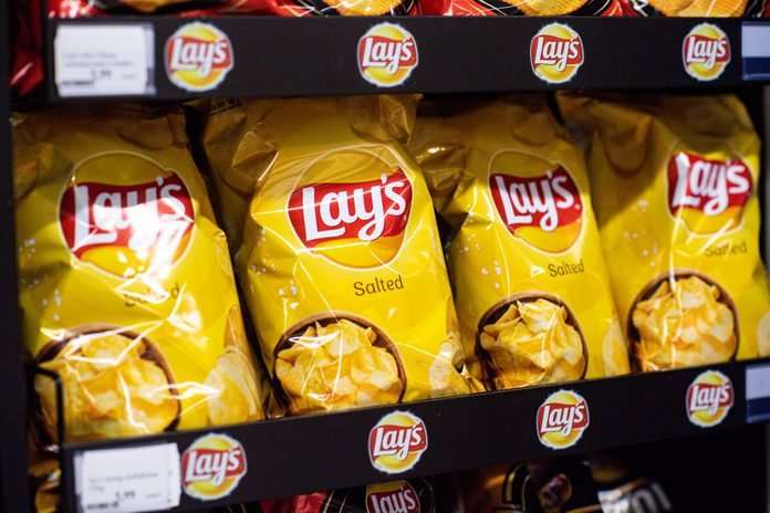 Lays chips seen at the grocery store...
