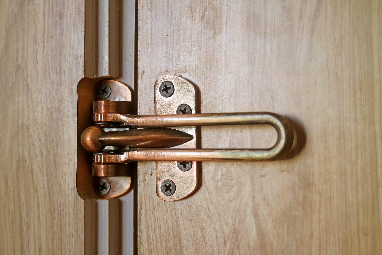 Locked Door Security Swing Bar inside the Room