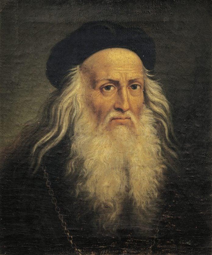 Portrait of Leonardo da Vinci, by Lattanzio Querena (1768-1853).
