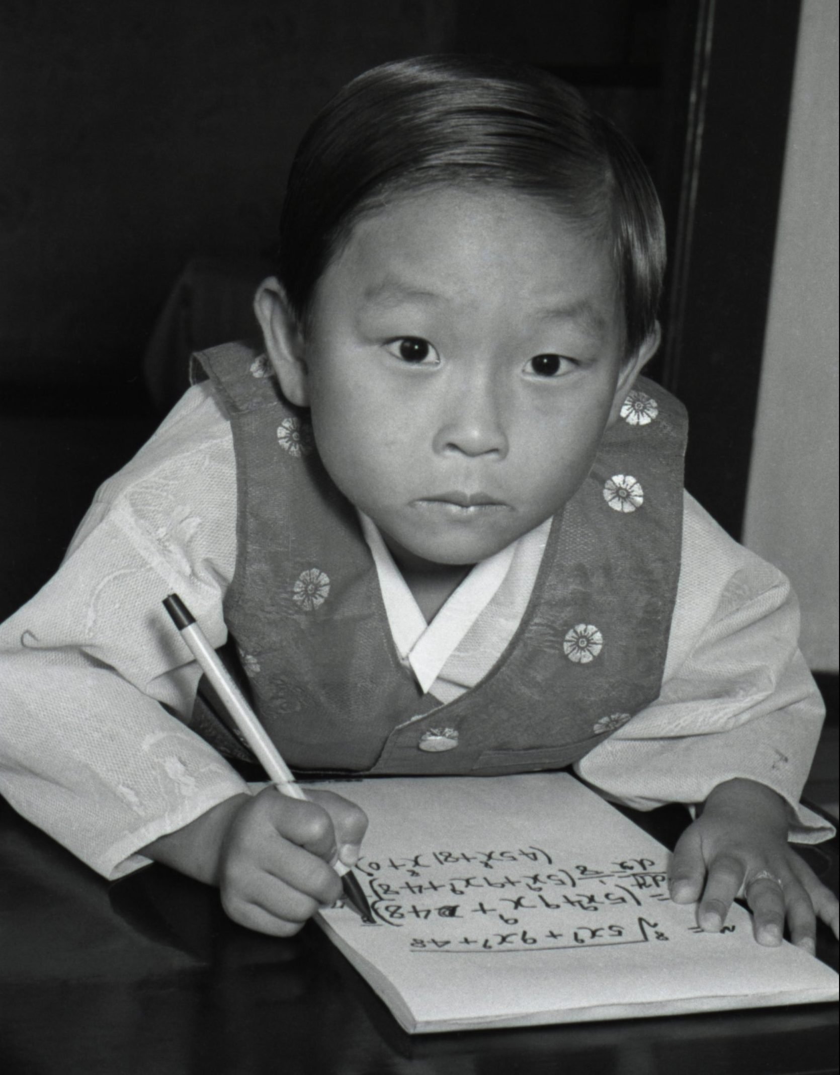 Kim Ung-Yong at age 6 months solving equations