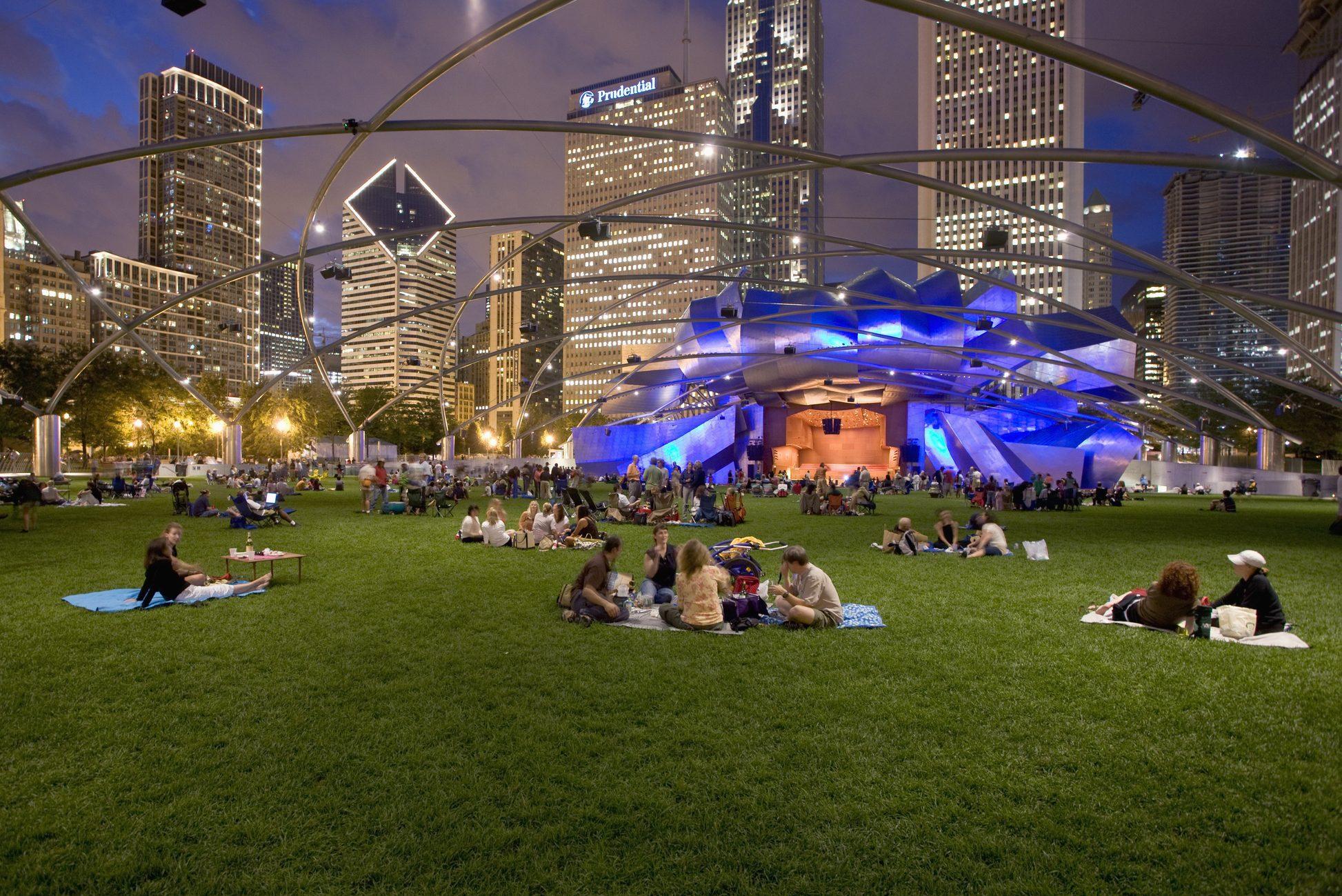 Jay Pritzker Pavillon at Millennium Park, Chicago, Illinois