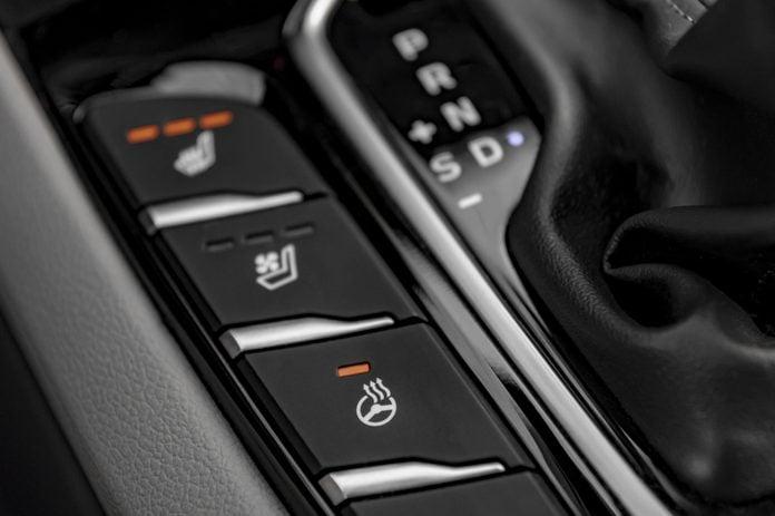 Car heated steering wheel