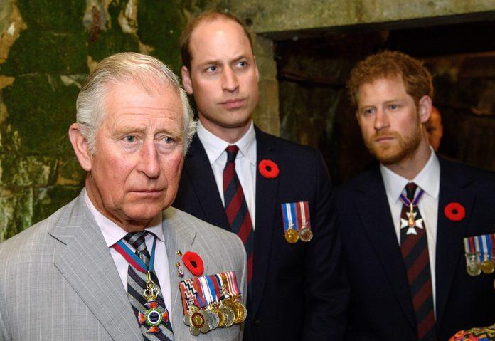 Prince Charles, Prince William, and Prince Harry