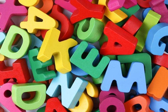 Full Frame Shot Of Multi Colored Alphabet letters