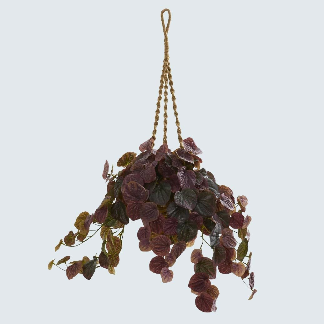 Peperomia Artificial Plant In Hanging Basket