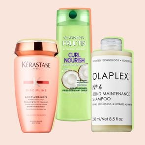 Colorful image of three different shampoos from this list