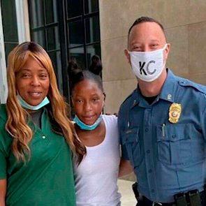 Shetara Sims; her 12-year-old daughter, Rakiya Edmondson; and police sergeant Jake Becchina