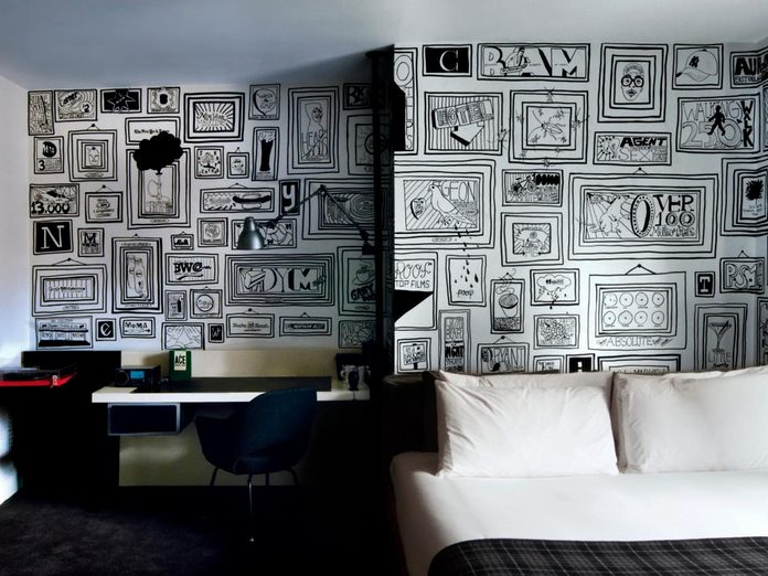 The completed Ace Hotel mural