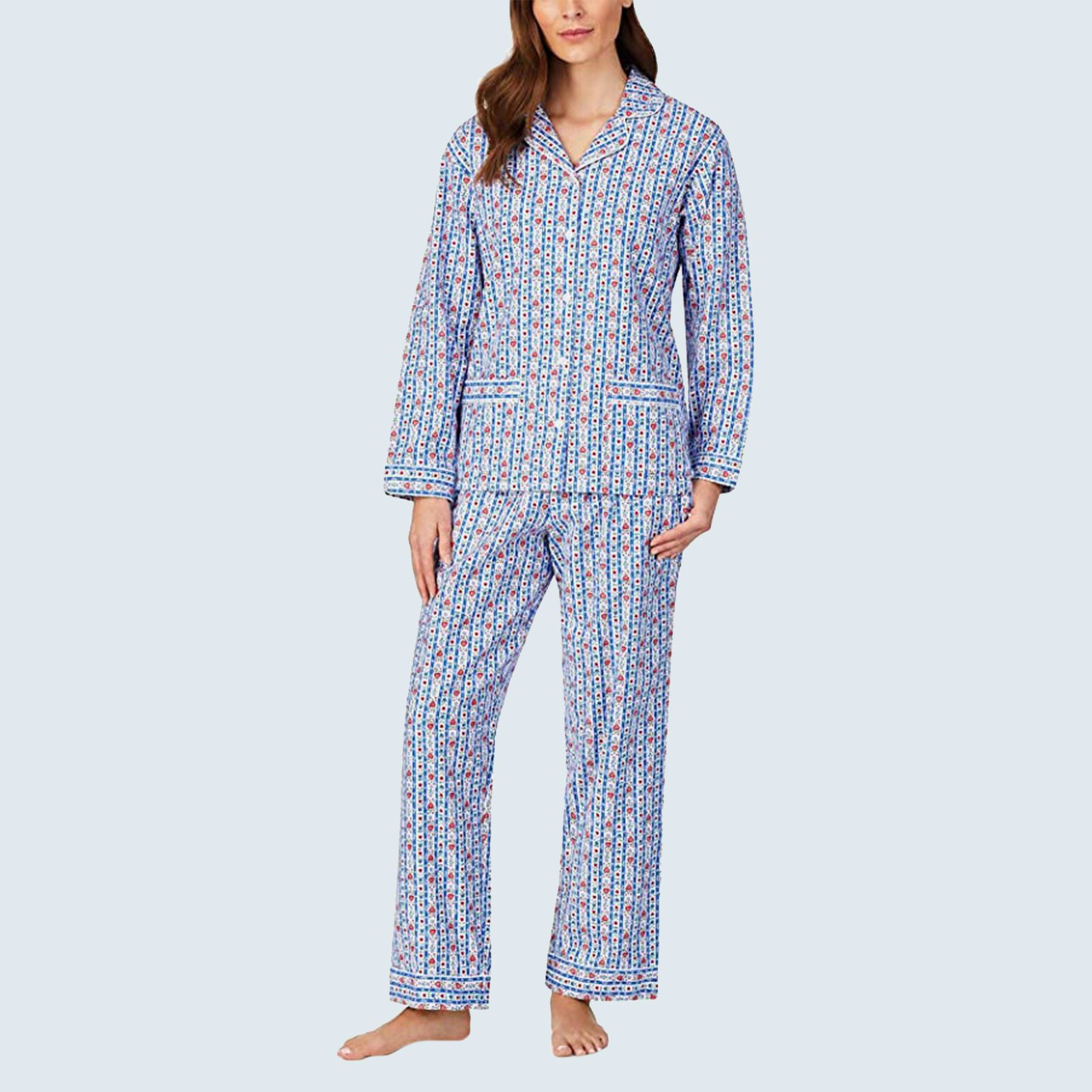 Classic Tyrolean Stripe Flannel Pajama Set from Lanz of Salzburg