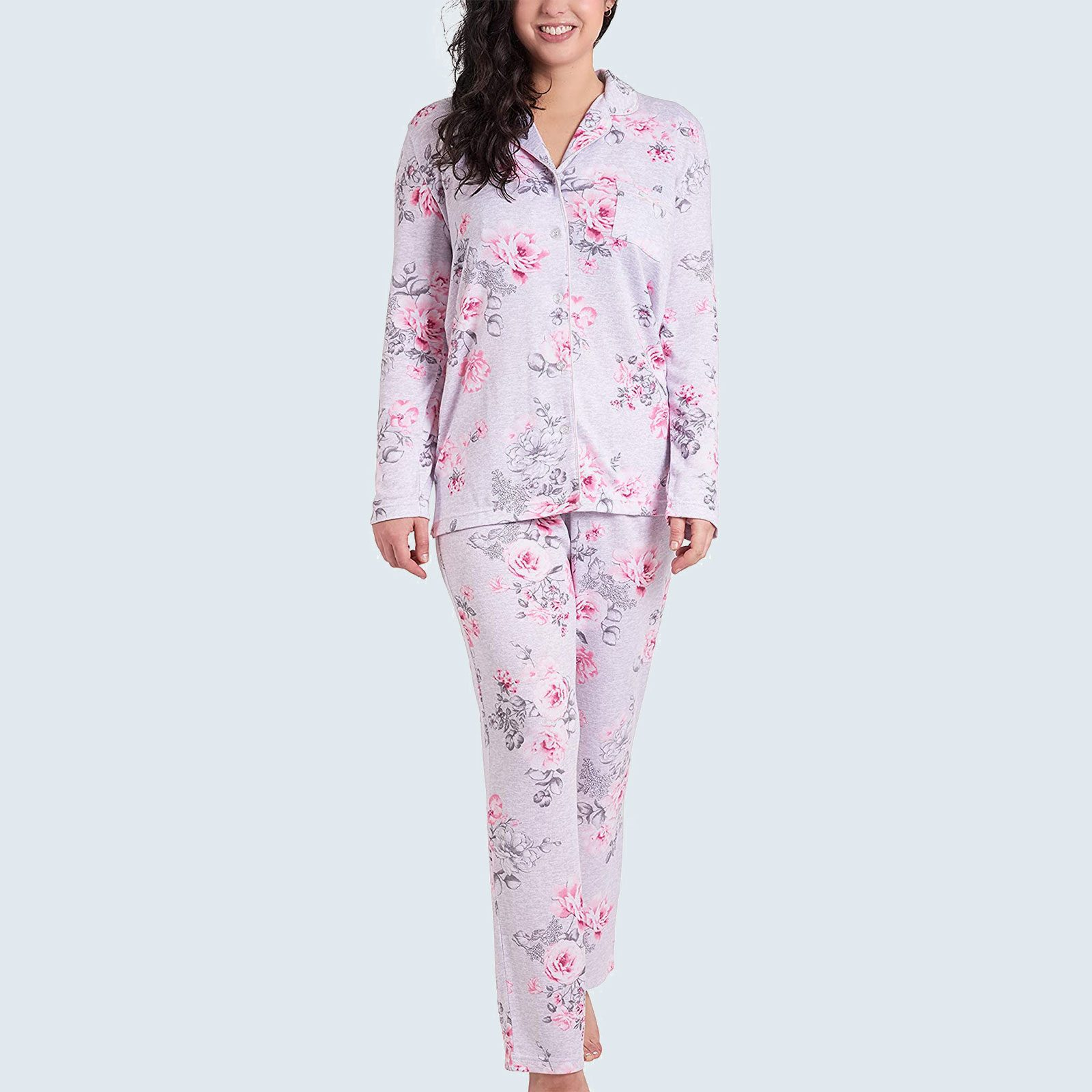 Long Sleeve Notch Collar PJ Set from Laura Ashley