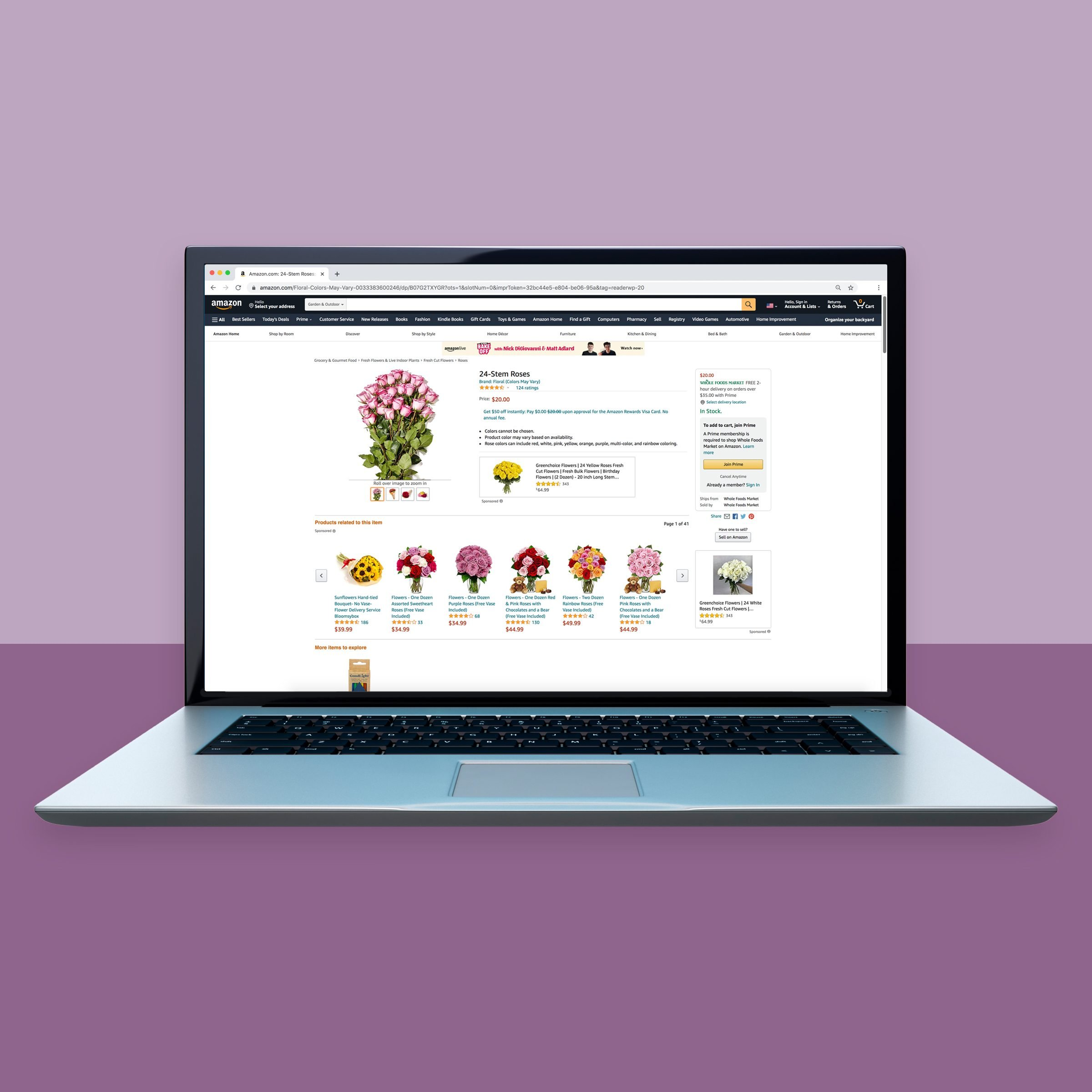 Amazon.com for online flower shopping