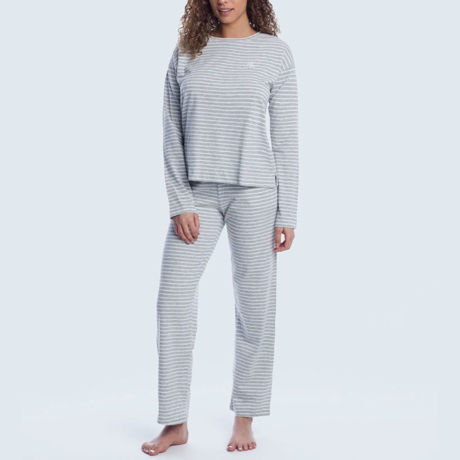 Lauren Ralph Lauren Striped Knit Pajama Set from Bare Necessities