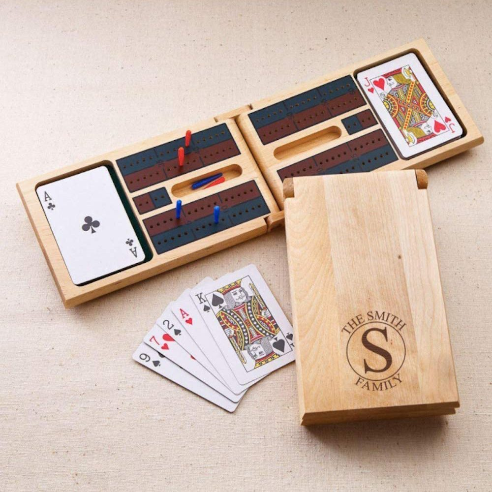 Personalized wooden cribbage game