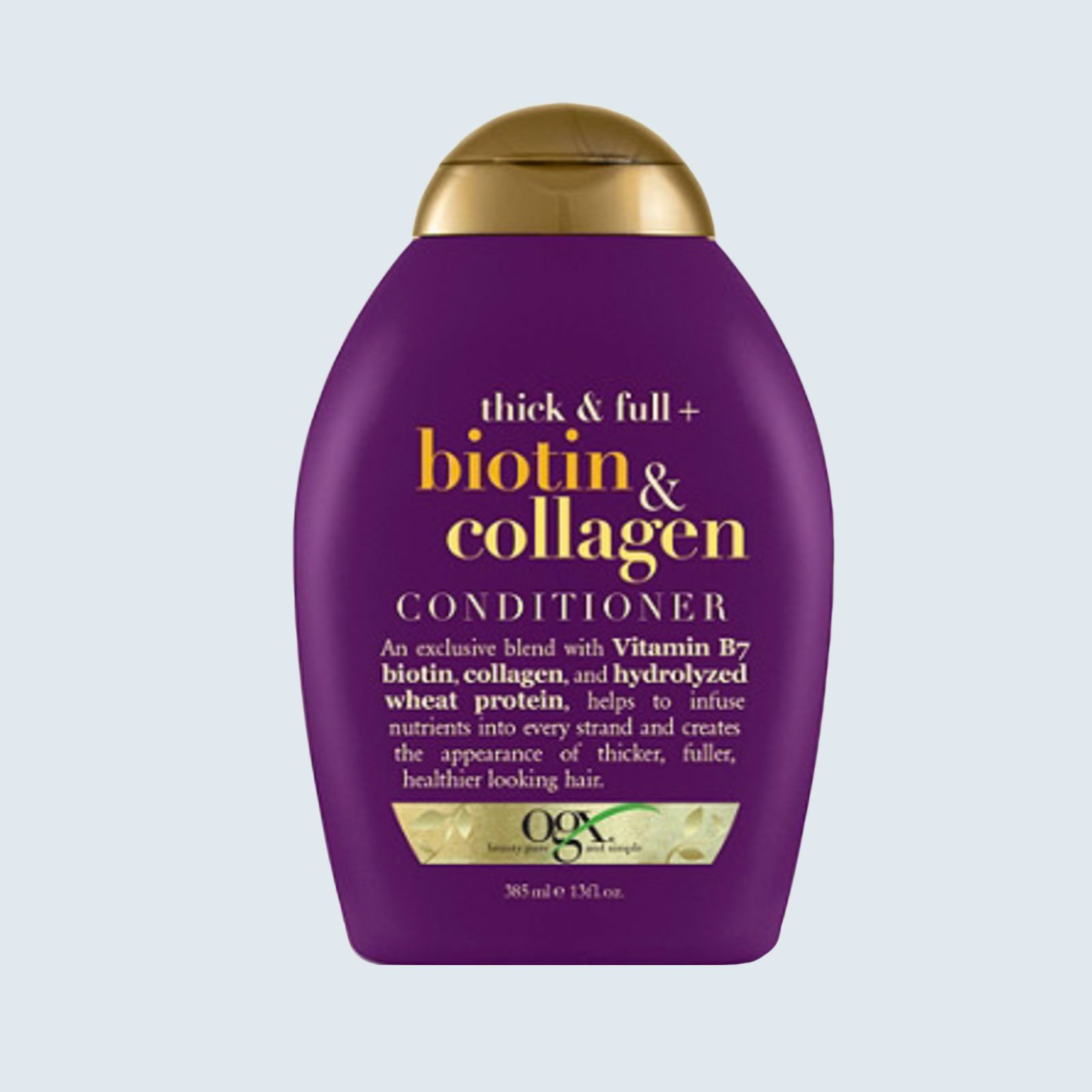 Best volumizing conditioner: OGX Thick & Full Biotin & Collagen Conditioner