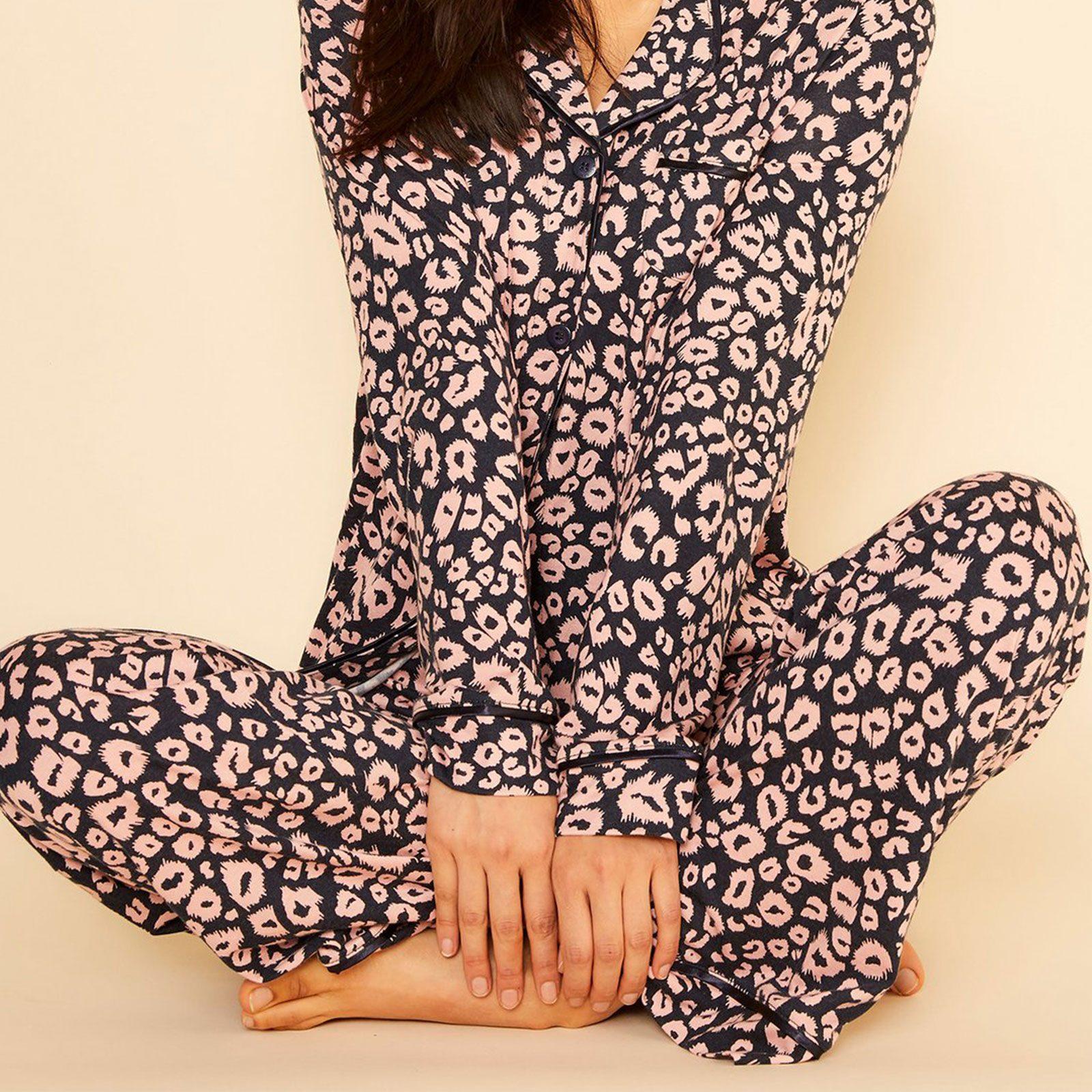 Bella Printed Long Sleeve Top & Pant Pajamas from Cosabella