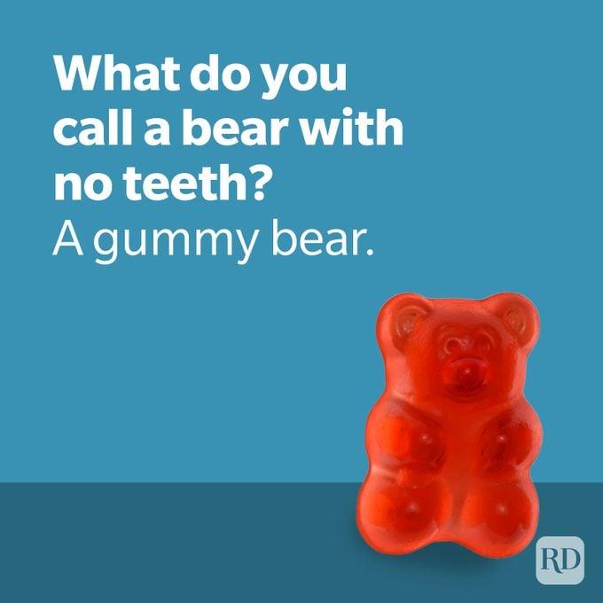 Dad Joke Bear Joke With Gummy Bear