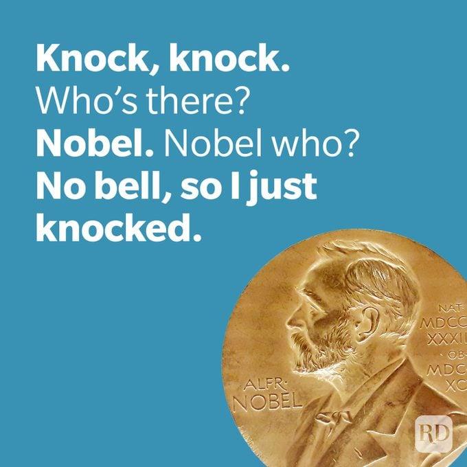 Dad Joke No Bell Joke With Nobel Prize