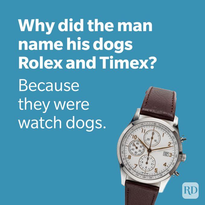 Dad Joke Watch With Rolex Joke