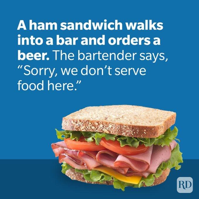 Dad Jokes Ham Sandwich With Food Joke