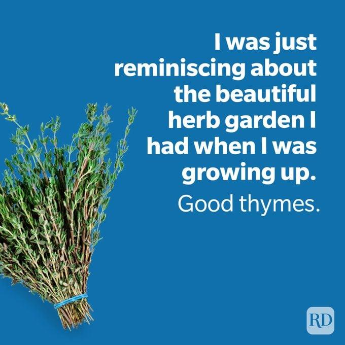 Dad Jokes Thyme With Garden Joke