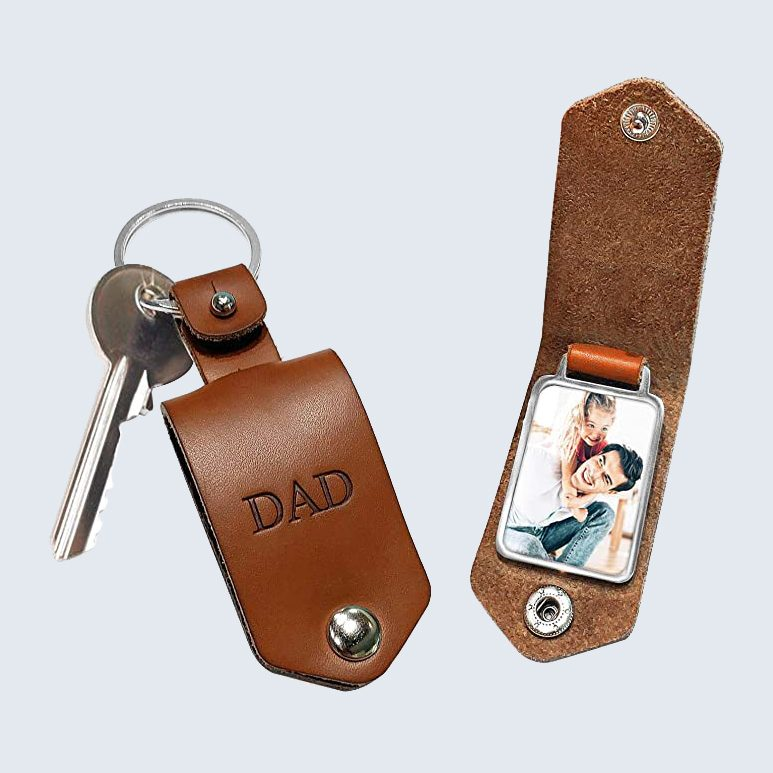 Personalized photo key chain for Father's Day