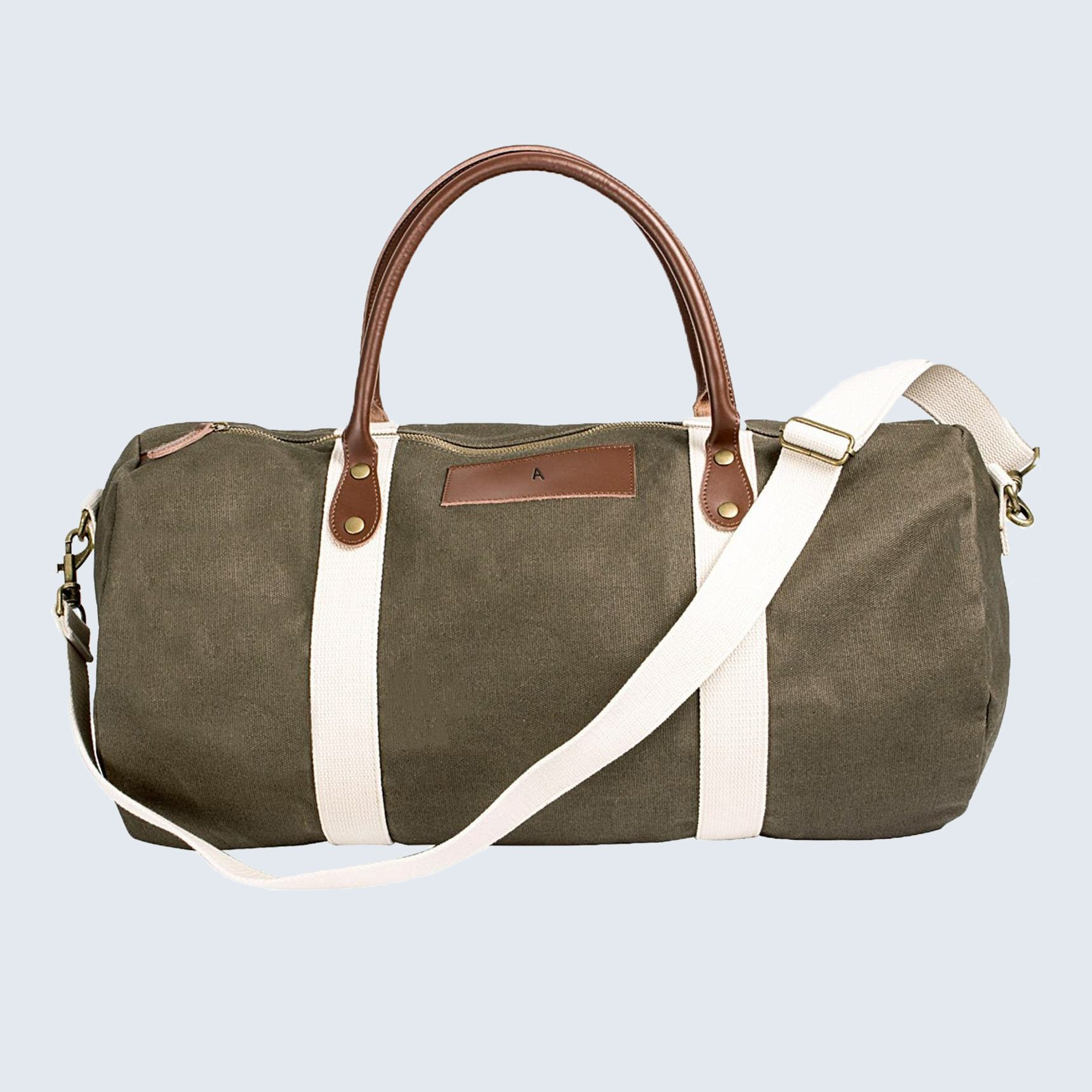 Monogrammed duffel bag for Father's Day