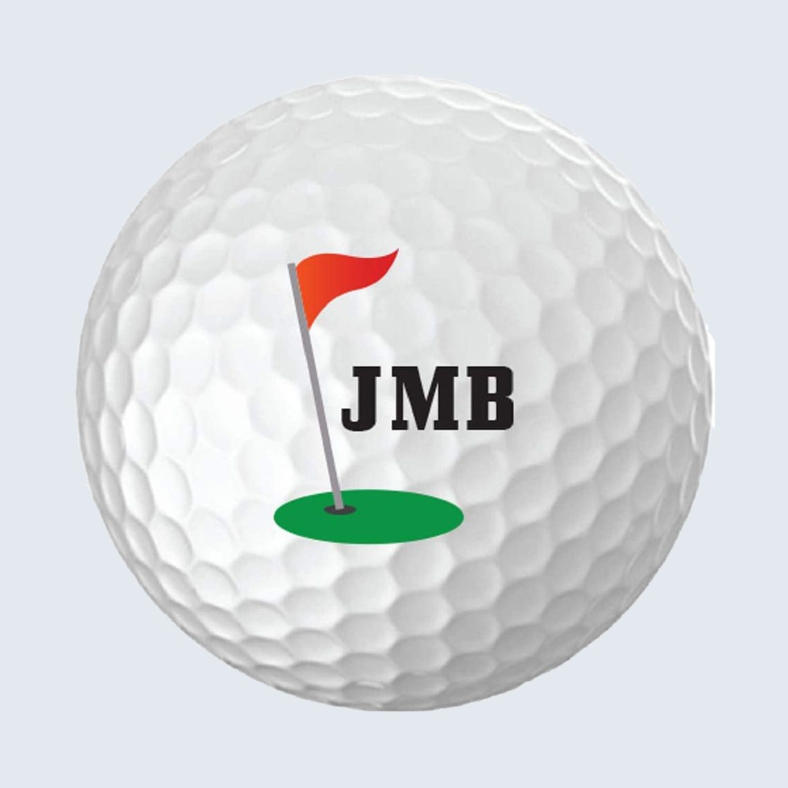 Personalized initial golf balls for father's day