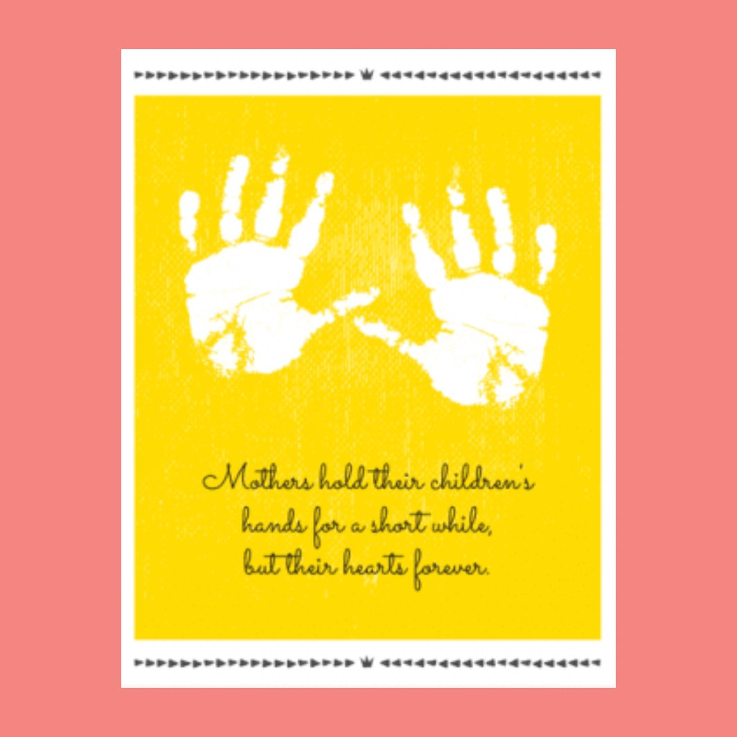 holding hands printable mothers day card