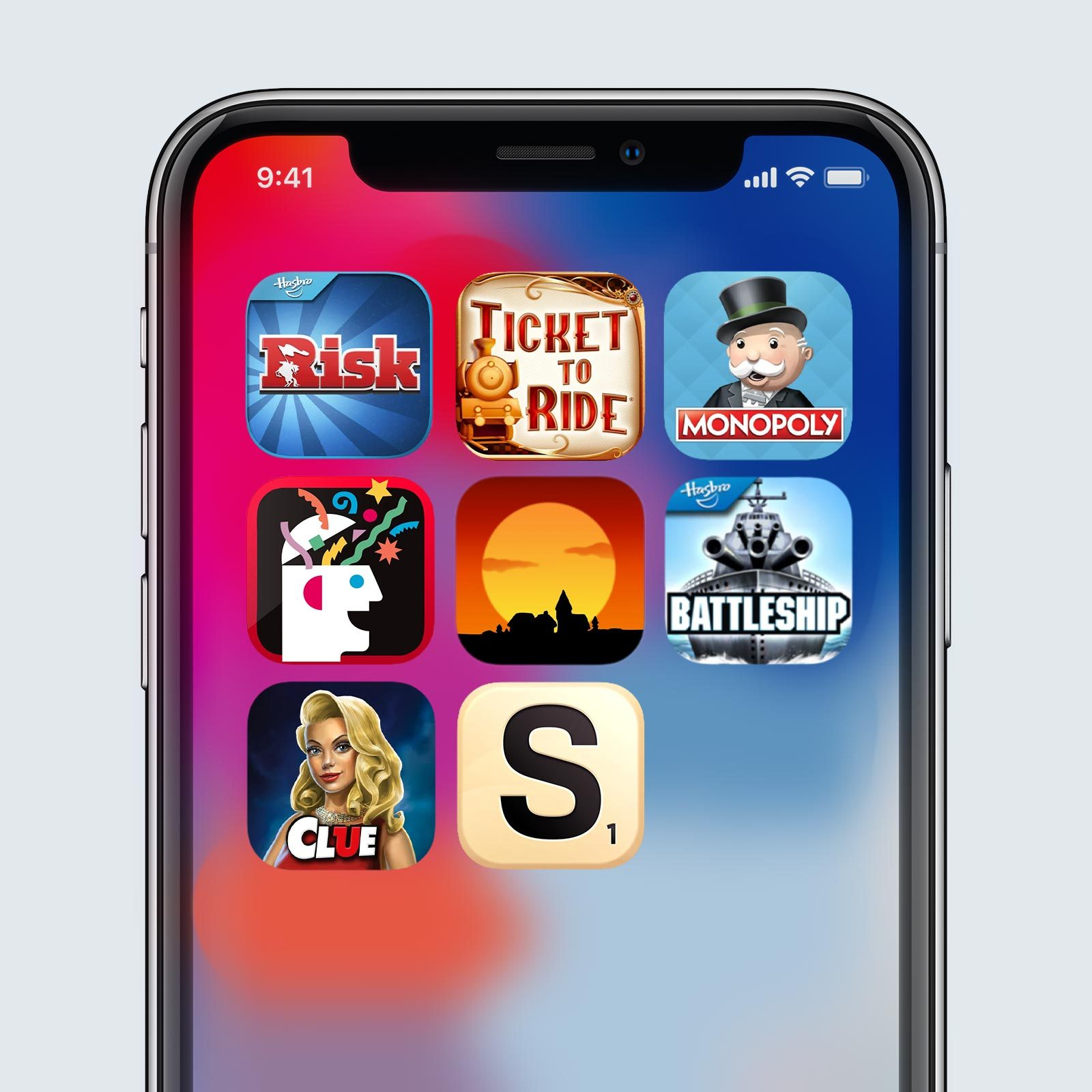 Grid of different iPhone game applications