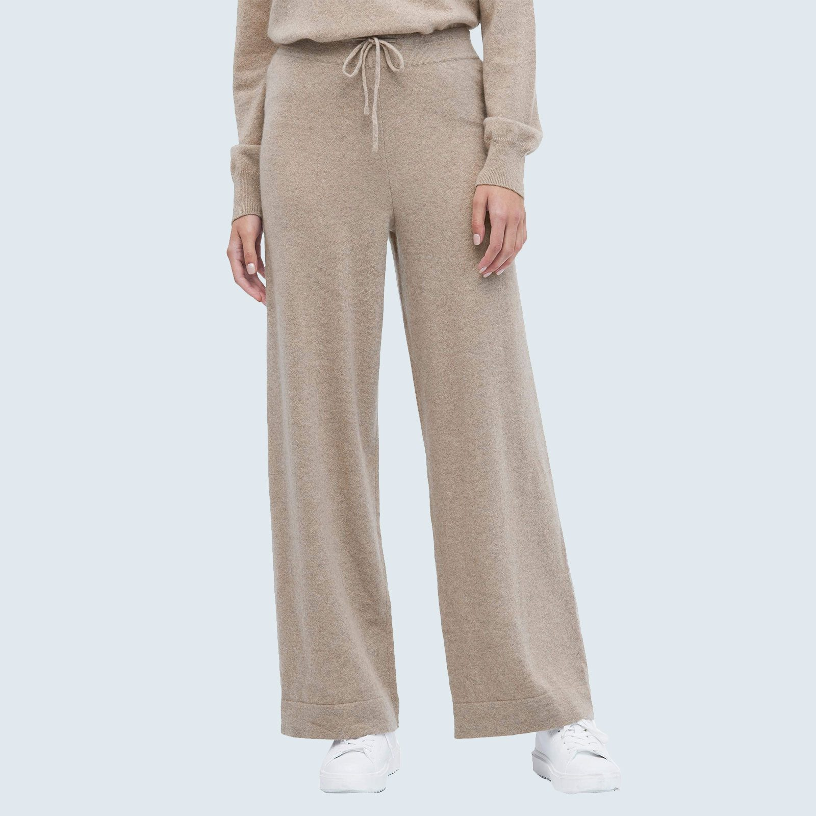 Best luxe loungewear set: Lilysilk Cashmere Knitting Trousers and Pullover Sweater