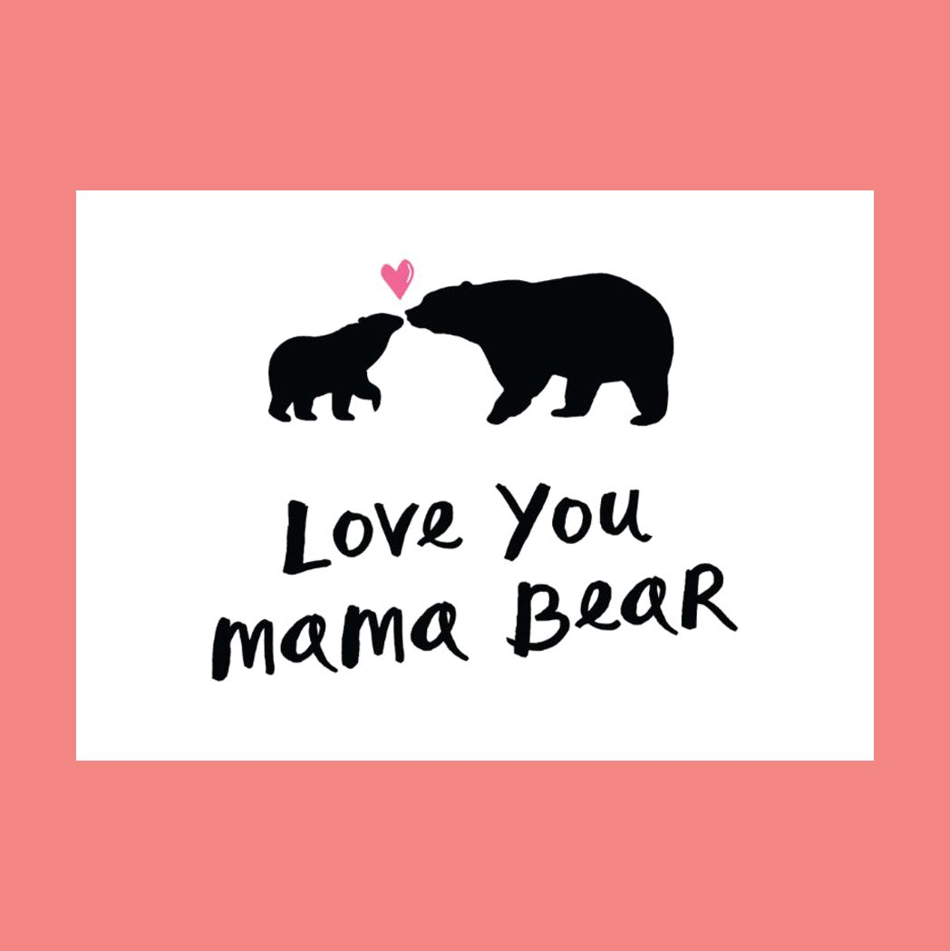 love you mama bear mothers day card