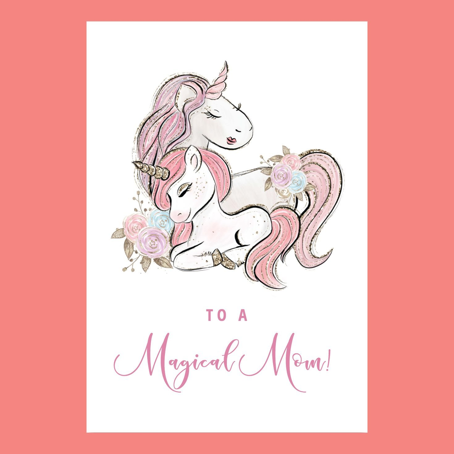 moms are magical mothers day card