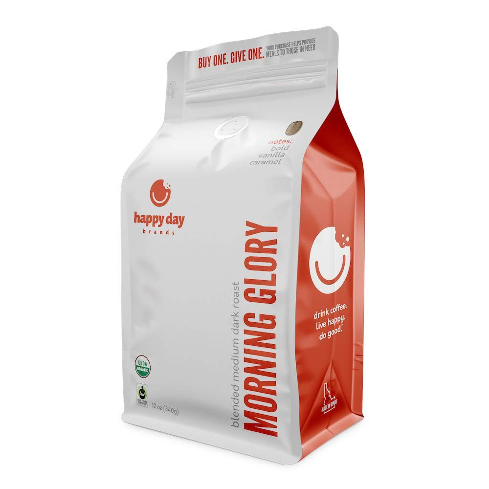 Morning Glory Fair Trade Organic Whole Bean Coffee from Happy Day Brands