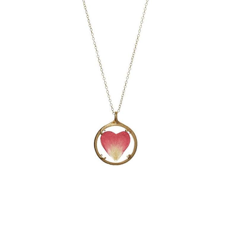 Catherine Weitzman Rose Petal Heart necklace for grandma