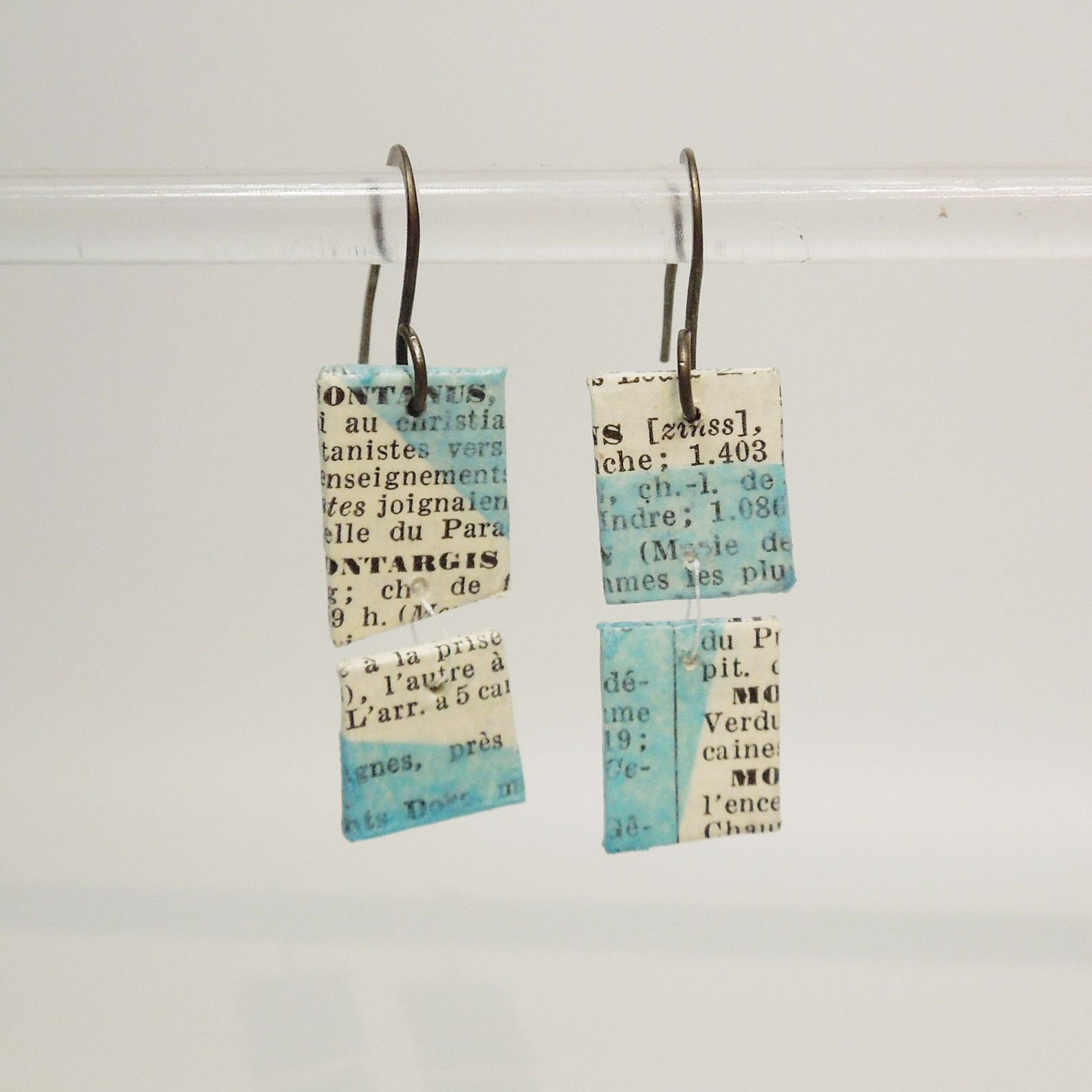 French Dictionary Earrings from Sally Prangley Studio