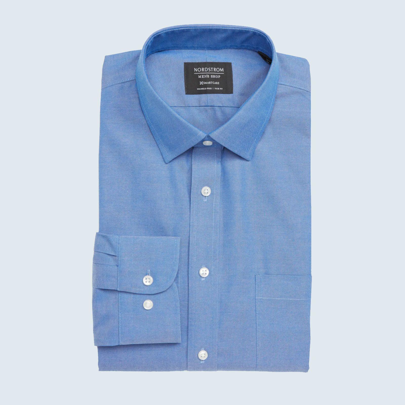 Smartcare Trim Fit Solid Dress Shirt