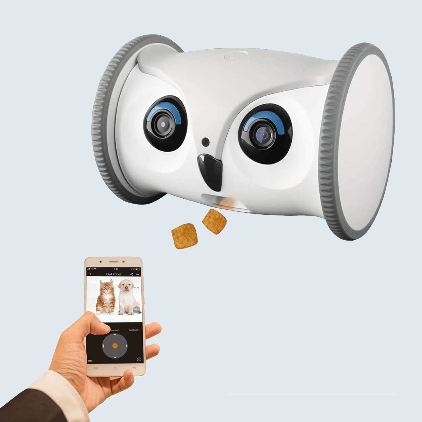 Best pet camera for interactive play: SKYMEE Owl Robot