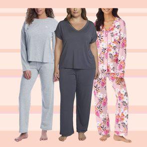 Image of three women wearing pajamas