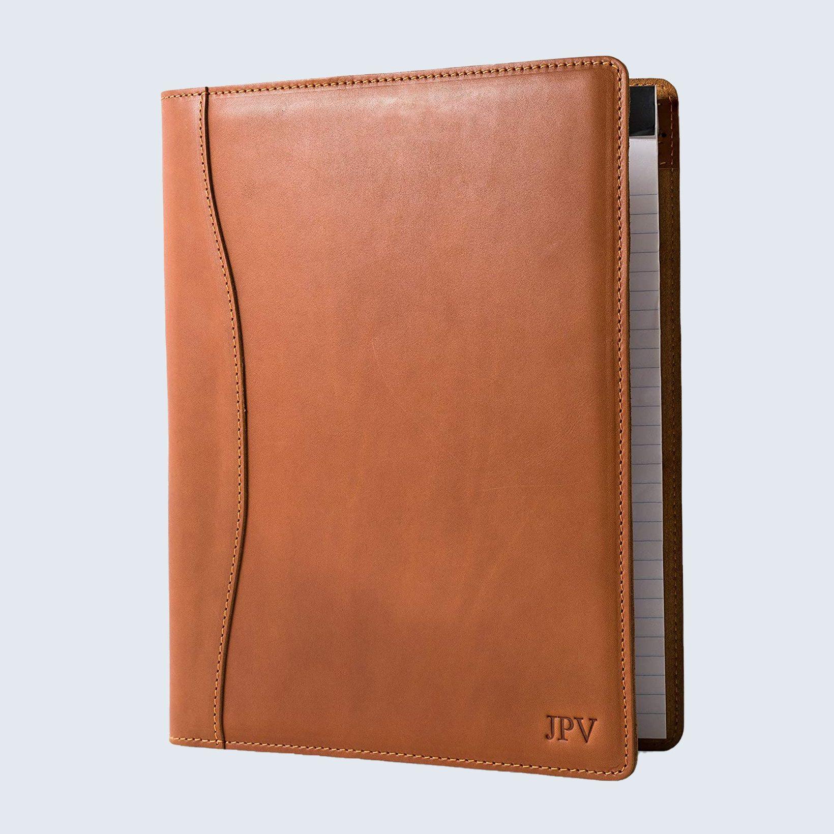 Personalized leather portfolio
