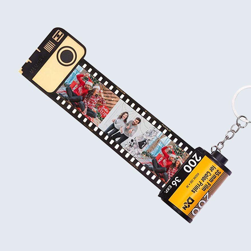 Camera film key chain