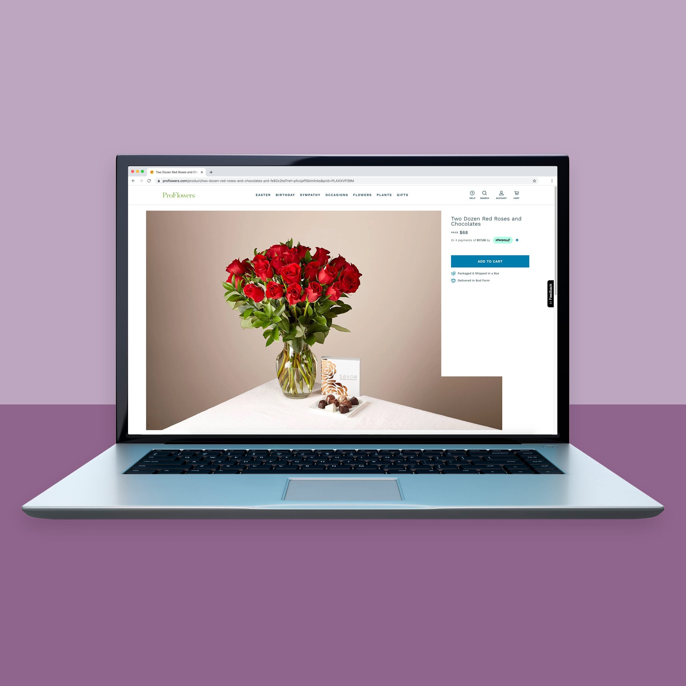 Proflowers.com online flower shopping