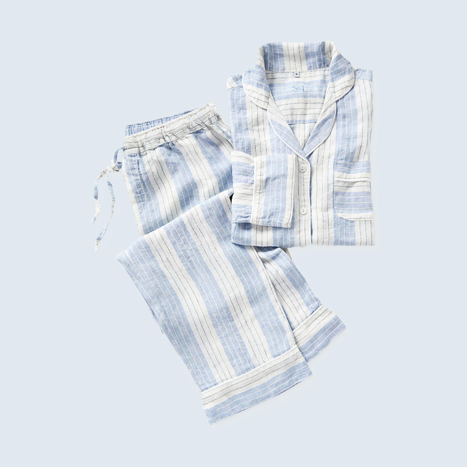 Porto Linen Pajamas from Serena & Lily