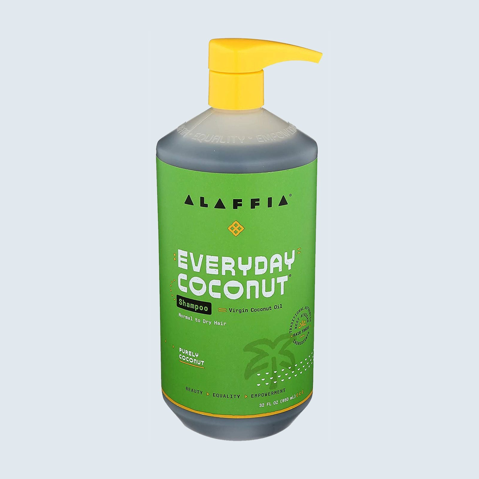 Best shampoo for curly hair from a Black-owned brand: Alaffia Everyday Coconut Shampoo