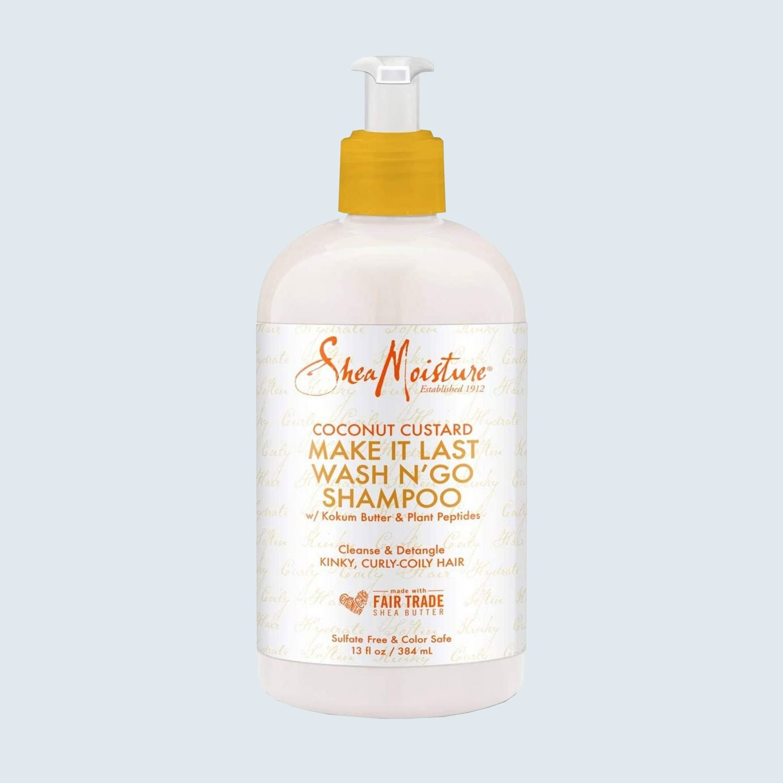 Best shampoo that won't weigh down curly hair: SheaMoisture Coconut Custard Make It Last Wash N' Go Shampoo