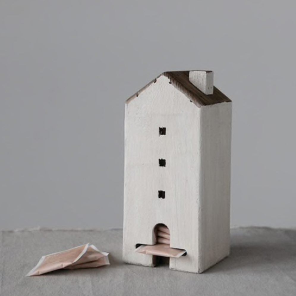 Wood House Tea Bag Caddy from Lockwood