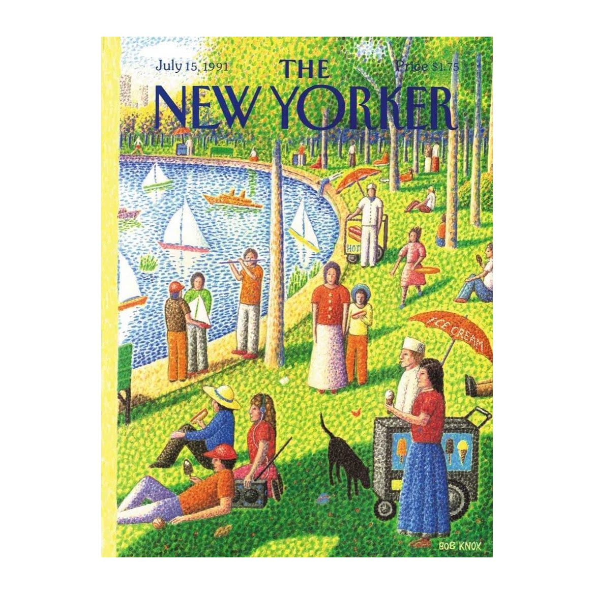 New Yorker Sunday in Central Park Puzzle from New York Puzzle Company
