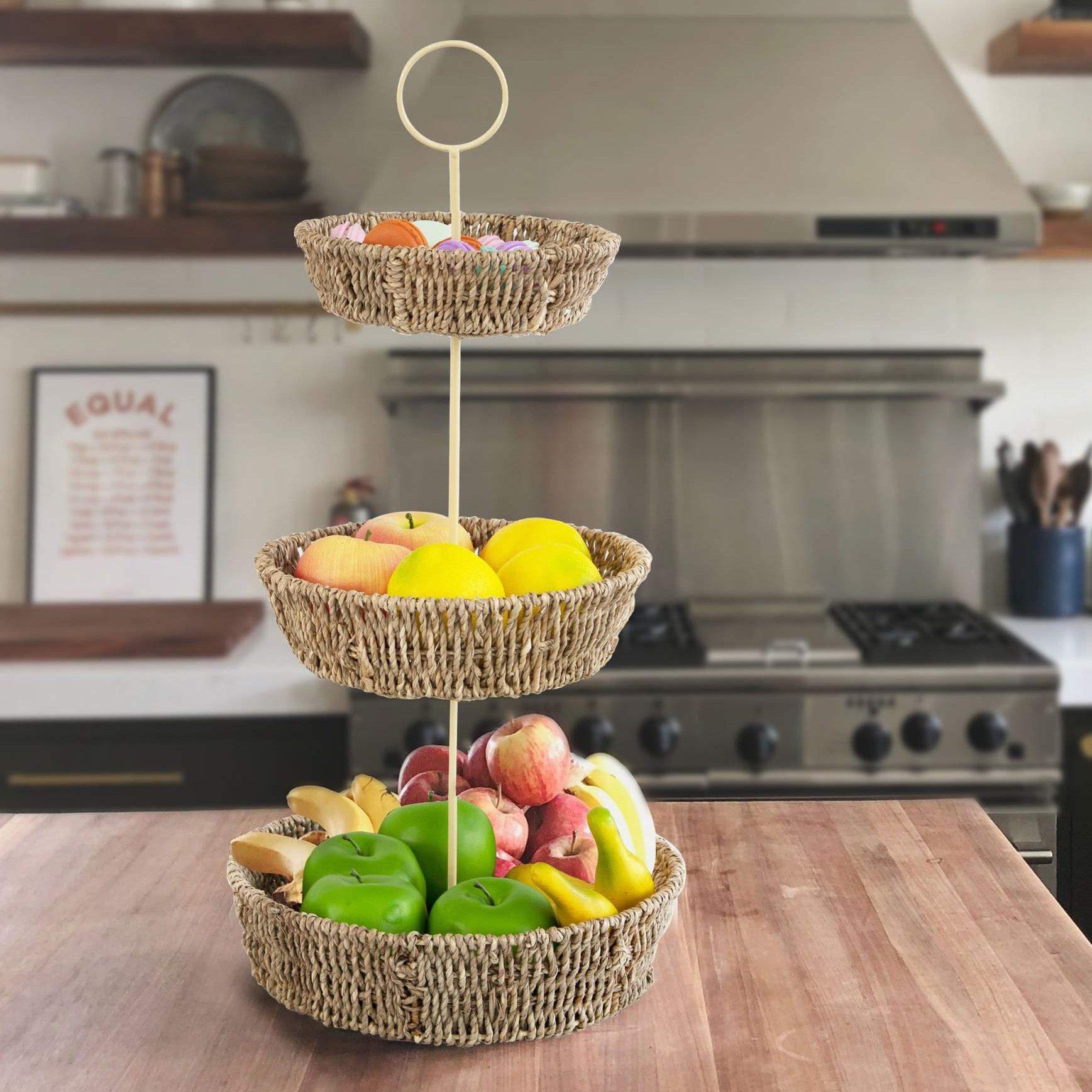 3-Tier Fruit Basket Holder from Made Terra