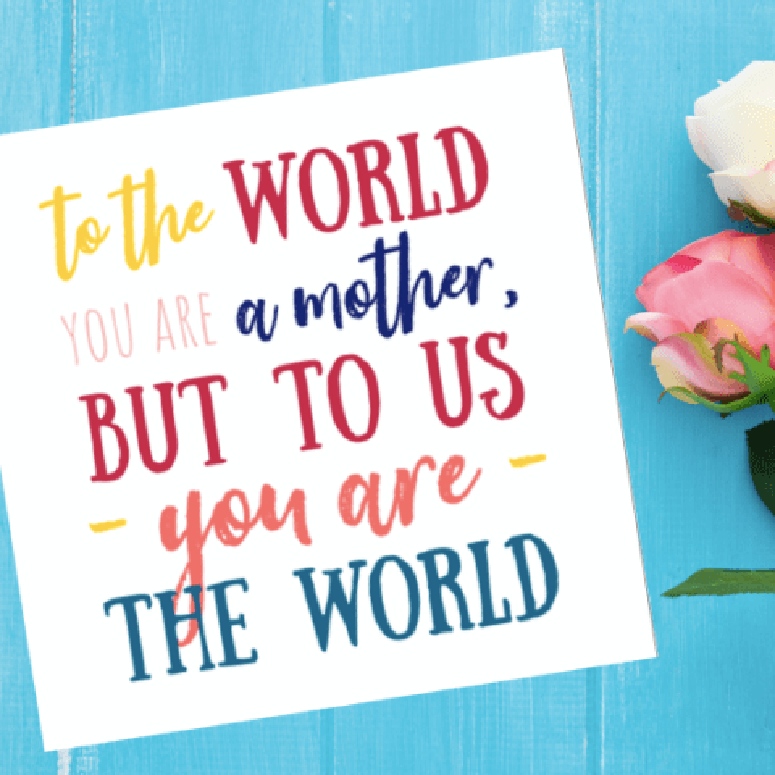 mothers day printable card