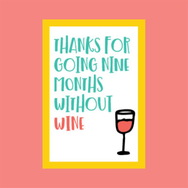 without wine printable mothers day cards