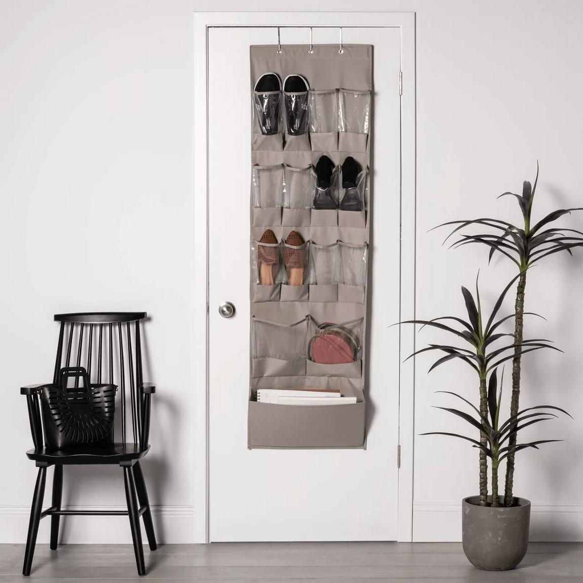 15 Pocket Over The Door Hanging Shoe Organizer
